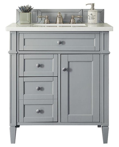 "30"" Brittany Urban Gray Single Sink Bathroom Vanity, James Martin Vanities - vanitiesdepot.com"