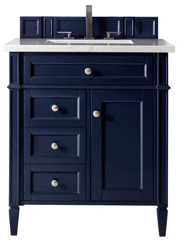 "30"" Brittany Single Sink Bathroom Vanity, Victory Blue"