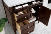 "36"" Brittany Burnished Mahogany Single Bathroom Vanity, James Martin Vanities - vanitiesdepot.com"