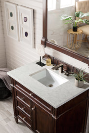 "36"" Brittany Single Bathroom Vanity, Burnished Mahogany"