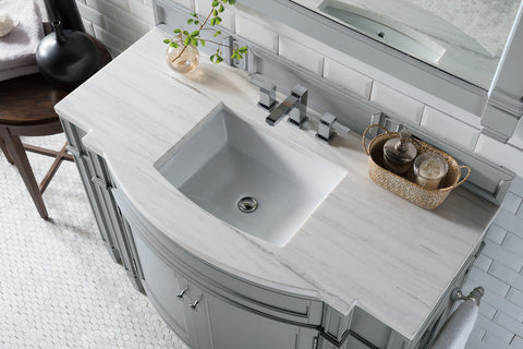 "46"" Brittany Urban Gray Single Bathroom Vanity, James Martin Vanities - vanitiesdepot.com"