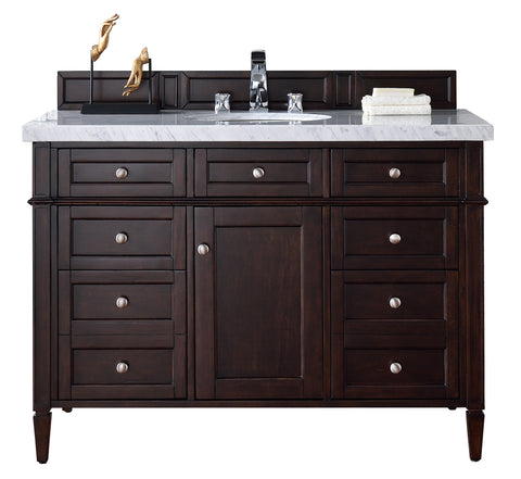 "48"" Brittany Single Bathroom Vanity, Burnished Mahogany"