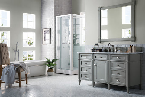 "60"" Brittany Single Bathroom Vanity Urban Gray, James Martin Vanities - vanitiesdepot.com"