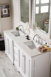 "72"" De Soto Double Sink Bathroom Vanity, Bright White"