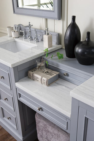 "82"" De Soto Silver Gray Double Sink Bathroom Vanity, James Martin Vanities - vanitiesdepot.com"