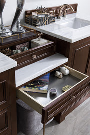 "94"" De Soto Burnished Mahogany Double Sink Bathroom Vanity, James Martin Vanities - vanitiesdepot.com"