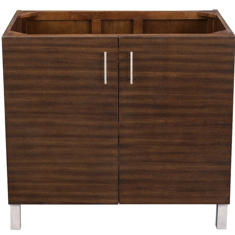 "36"" Metropolitan American Walnut Single Sink Bathroom Vanity, James Martin Vanities - vanitiesdepot.com"