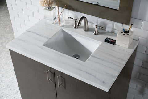"36"" Metropolitan Silver Oak Single Sink Bathroom Vanity, James Martin Vanities - vanitiesdepot.com"
