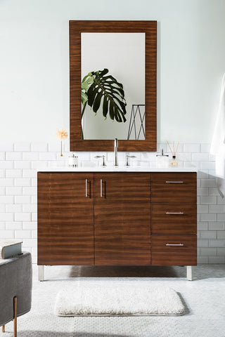 "48"" Metropolitan American Walnut Single Sink Bathroom Vanity, James Martin Vanities - vanitiesdepot.com"