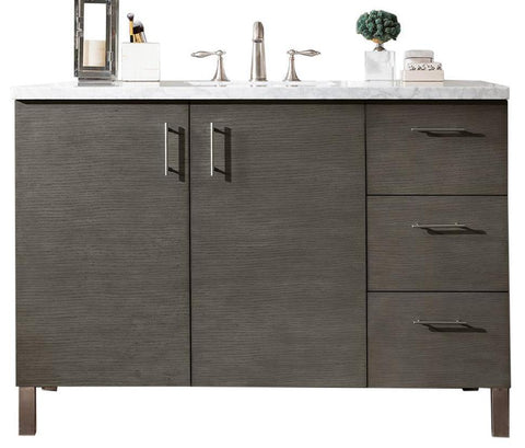 "48"" Metropolitan Silver Oak Single Sink Bathroom Vanity, James Martin Vanities - vanitiesdepot.com"