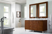 "60"" Metropolitan American Walnut Double Sink Bathroom Vanity, James Martin Vanities - vanitiesdepot.com"