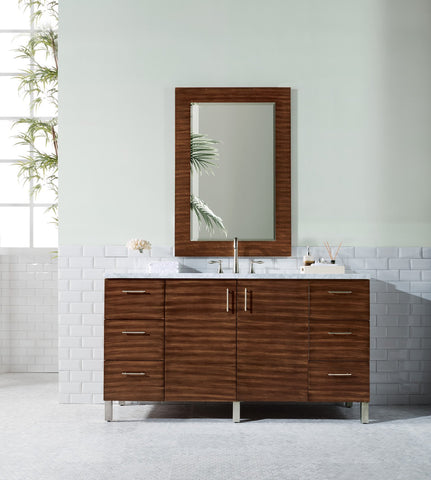 "60"" Metropolitan American Walnut Single Sink Bathroom Vanity, James Martin Vanities - vanitiesdepot.com"