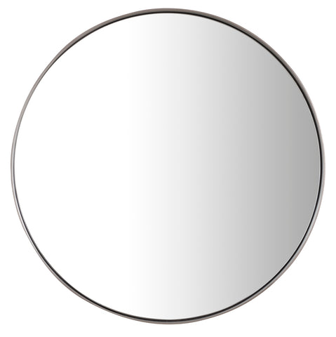 "Simplicity 20"" Round Mirror, Polished Nickel"
