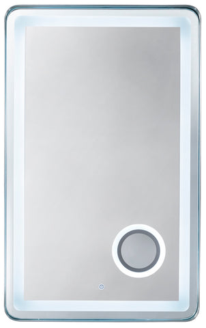 "Essential 28"" Mirror, Brushed Nickel"