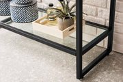 "39.5"" Boston Stainless Steel Sink Console, Matte Black w/ Countertop"