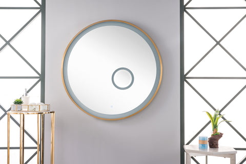 "Radiance 36"" Round Mirror, Burnished Gold"