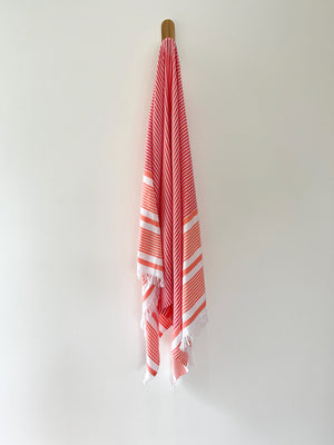 turkish towel seven seas Australia agean coral vermillion