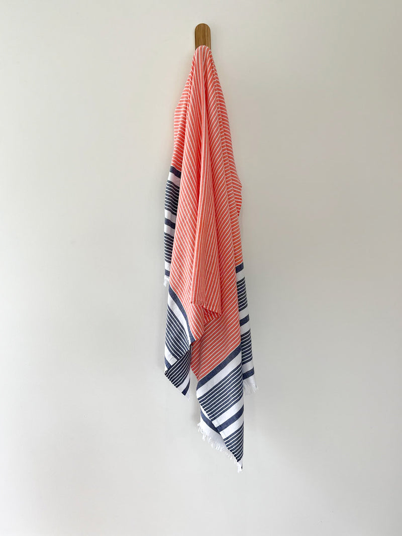 turkish towel seven seas Australia agean vermillion coral