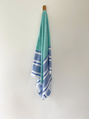 turkish towel seven seas Australia agean royal blue sea green