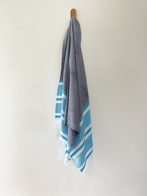 turkish towel seven seas Australia agean turquoise navy