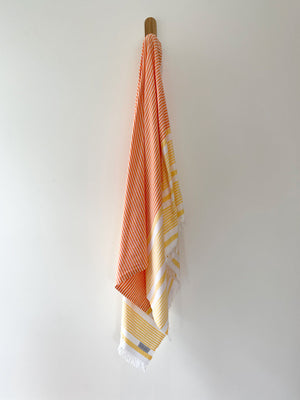 turkish towel seven seas Australia agean yellow orange