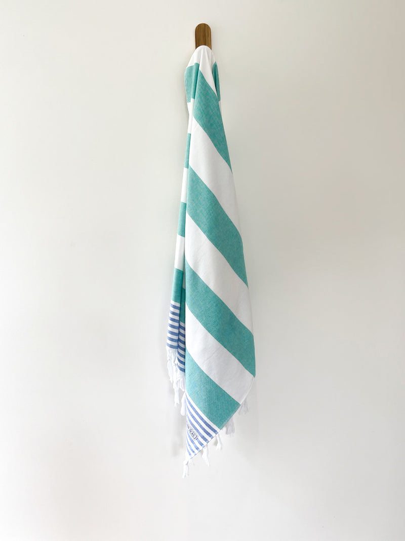 turkish towel seven seas australia arctic green royal blue