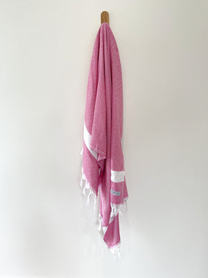 turkish towel seven seas Australia diamond fuschia