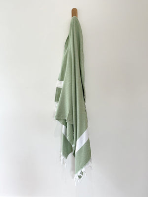 turkish towel seven seas Australia diamond olive