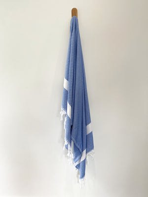 turkish towel seven seas Australia diamond royal blue