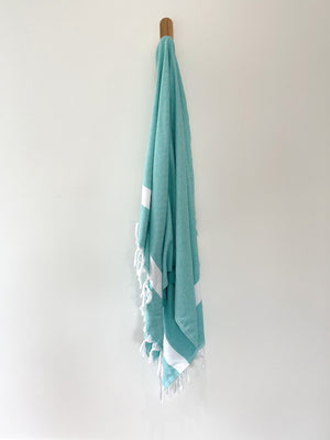 turkish towel seven seas Australia diamond sea green