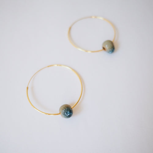 ZOE HOOPS Deep Blue