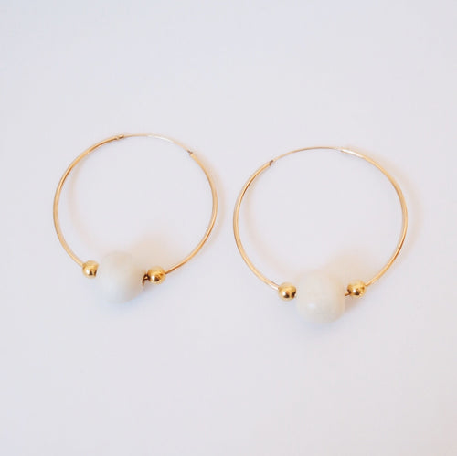 ZOE HOOPS II White