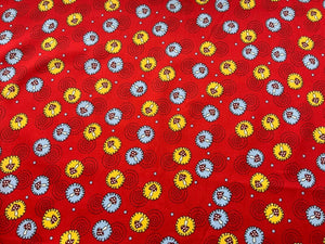 Red Toadstool Mushroom Cotton Fabric Craft Fabric - Width Approx. 148cm/58""