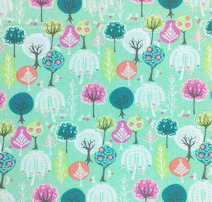 Woodland Fabric, Childrens Cotton Fabric, Woodland Nursery Fabric, Tree Fabric