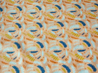 Peach Leaves Ferns Forest Cotton Fabric Craft Fabric Dressmaking Width 112cm - Kims Crafty Corner