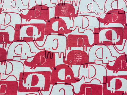 Baby Pink Elephants Animals Cotton Fabric Craft Fabric - Width Approx. 144cm/56