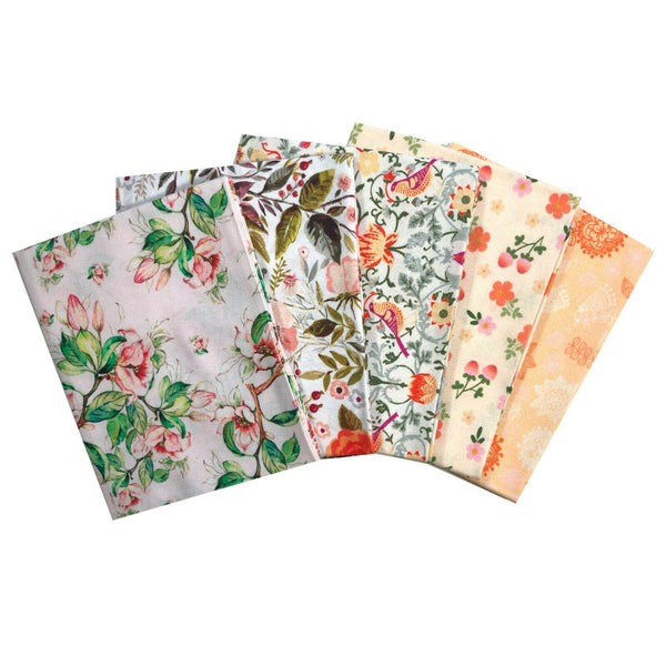 Beautiful Floral Fat Quarter Bundle, Flower Fabric, Craft Fabric, Jungle Forest