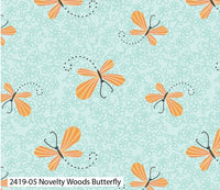 "Butterfly Cotton Fabric - Width Approx. 112cm/44"" Sold by the Metre"