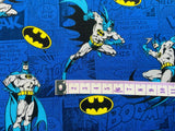 Batman Fabric Blue Comic Cotton Fabric Craft Cotton Marvel Fabric Super Hero