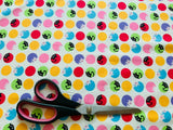 Colourful Cat Fabric - 100% Cotton - Kims Crafty Corner