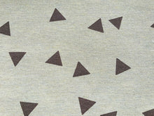 Load image into Gallery viewer, Brown Triangle on Natural Fabric Cotton Canvas Heavy Duty Upholstery Fabric