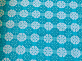 Blue Moroccan Bazaar Tiled Colourful Indian Cotton Fabric - Width Approx 112cm