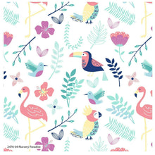 Load image into Gallery viewer, Jungle Birds Nursery Cotton Fabric Decor Cushion Quilting Fabric Upholstery