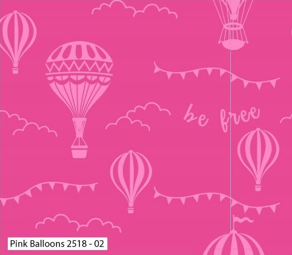 Pink Hot Air Balloon Nursery Fabric Little Girl Balloon Craft Fabric Cotton