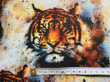 Tiger King Style Shabby Chic Cotton Canvas Heavy Duty Upholstery Fabric W.150cm