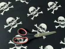 Load image into Gallery viewer, Skull & Crossbones Pirate Cotton Fabric - Kims Crafty Corner