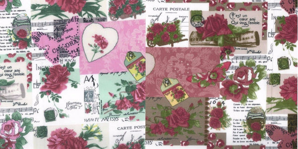 Shabby Chic Scrapbook Cotton Fabric - Kims Crafty Corner