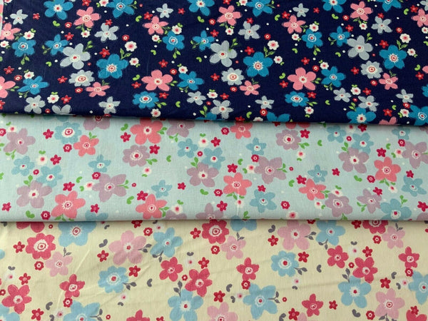 Floral Fabric - 100% Cotton - Kims Crafty Corner