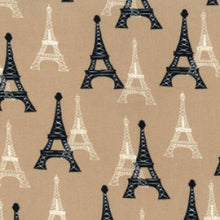 Load image into Gallery viewer, Eiffel Tower Cotton Fabric - Kims Crafty Corner