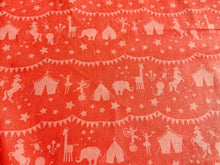Load image into Gallery viewer, Baby Nursery Circus Themed Cotton Fabric Craft Coral Pink Blue Fabric Animals